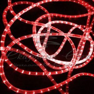 Светодиодный дюралайт Rich Led 13 мм, круглый, 2-х проводной, кратность резки 1 м, постоянное свечение, красный