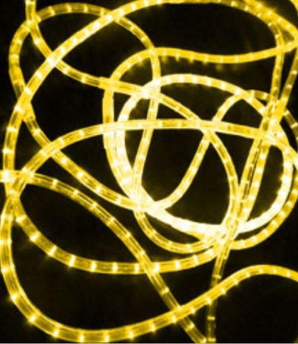 Светодиодный дюралайт Rich Led 13 мм, круглый, 2-х проводной, кратность резки 1 м, постоянное свечение, желтый
