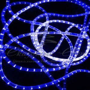Светодиодный дюралайт  Rich Led  13 мм, круглый, 2-х проводной, кратность резки 1 м, постоянное свечение, синий