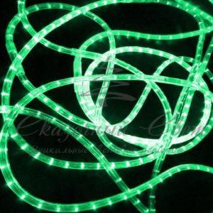 Светодиодный дюралайт Rich Led 13 мм, круглый, 2-х проводной, кратность резки 1 м, постоянное свечение, зеленый