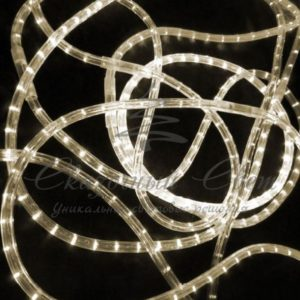 Светодиодный дюралайт Rich LED 13 мм, мерцающий, круглый, 2-х проводной, кратность резки 1м, теплый белый