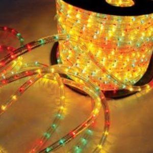 Светодиодный дюралайт Rich LED 13 мм, круглый, 3-х проводной, кратность резки 2 м, чейзинг, мульти