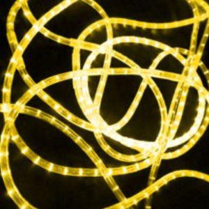 Светодиодный дюралайт Rich LED 13 мм, круглый, 3-х проводной, кратность резки 2 м, чейзинг, желтый