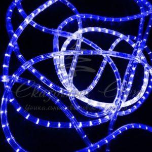 Светодиодный дюралайт Rich LED 13 мм, круглый, 3-х проводной, кратность резки 2 м, чейзинг, синий