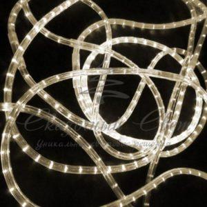Светодиодный дюралайт Rich LED 13 мм, круглый, 3-х проводной, кратность резки 2 м, чейзинг, теплый белый