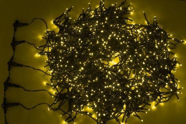 """Гирлянда """"LED ClipLight"""" 24V, 5 нитей по 20 метров, цвет диодов Желтый, Flashing (Белый)"""