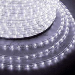 Дюралайт LED, постоянное свечение (2W) — белый Эконом 24 LED/м , бухта 100м
