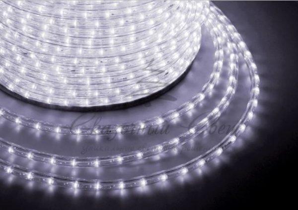 Дюралайт LED, постоянное свечение (2W) - белый Эконом 24 LED/м , бухта 100м 3
