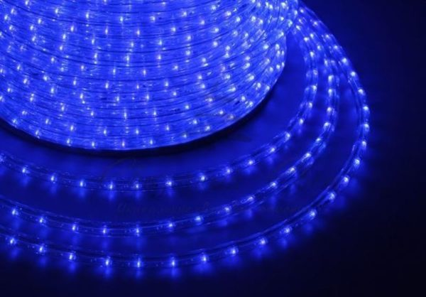Дюралайт LED, постоянное свечение (2W) - синий Эконом 24 LED/м , бухта 100м 1