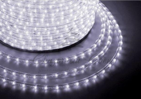 Дюралайт LED, свечение с динамикой (3W) - белый Эконом 24 LED/м , бухта 100м 1