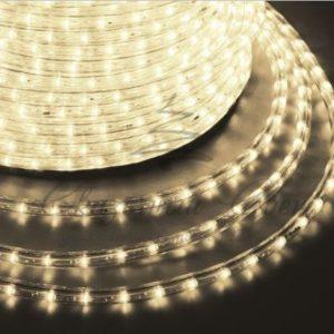 Дюралайт LED, постоянное свечение (2W) — теплый белый, 24 LED/м Ø10мм, бухта 100м