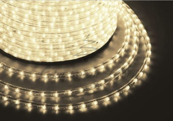Дюралайт LED, постоянное свечение (2W) - теплый белый, 24 LED/м Ø10мм, бухта 100м 3