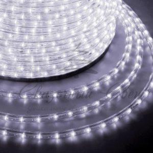 Дюралайт LED, постоянное свечение (2W) — белый, 24 LED/м Ø10мм, бухта 100м