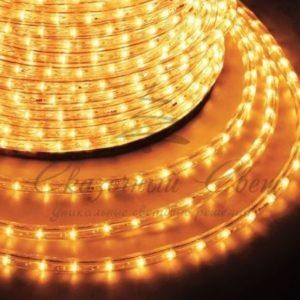 Дюралайт LED, постоянное свечение (2W) — желтый, 30 LED/м, бухта 100м