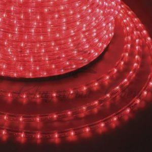 Дюралайт LED, постоянное свечение (2W) — красный, 30 LED/м, бухта 100м