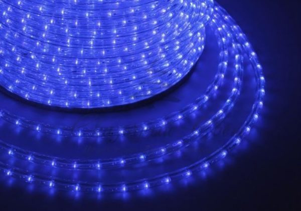 Дюралайт LED, постоянное свечение (2W) - синий, 30 LED/м, бухта 100м 1