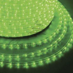 Дюралайт LED, постоянное свечение (2W) — зеленый, 30 LED/м, бухта 100м
