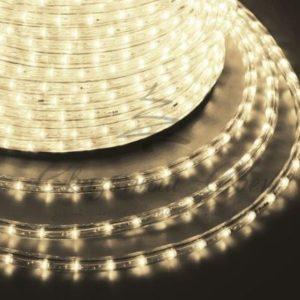 Дюралайт LED, постоянное свечение (2W) — теплый белый, 30 LED/м, бухта 100м