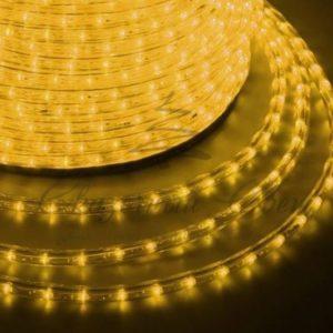 Дюралайт LED, свечение с динамикой (3W) — желтый, 36 LED/м, бухта 100м