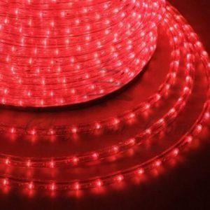 Дюралайт LED, свечение с динамикой (3W) — красный, 36 LED/м, бухта 100м