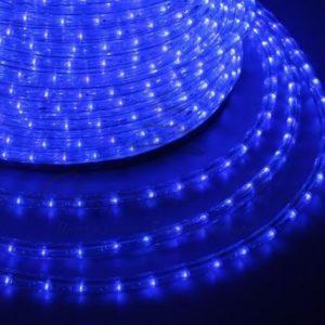 Дюралайт LED, свечение с динамикой (3W) — синий, бухта 100м
