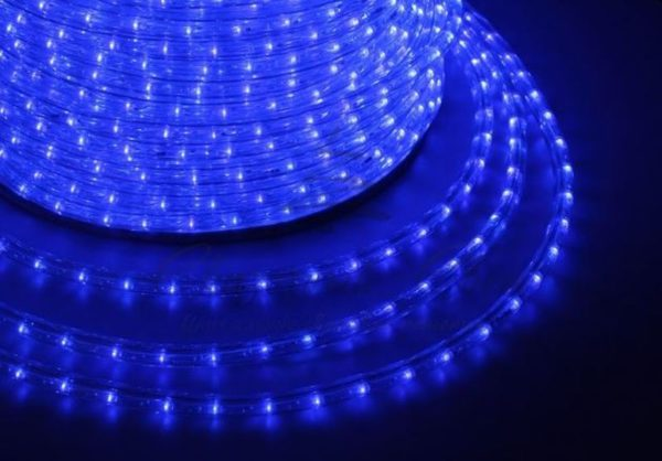 Дюралайт LED, свечение с динамикой (3W) - синий, бухта 100м