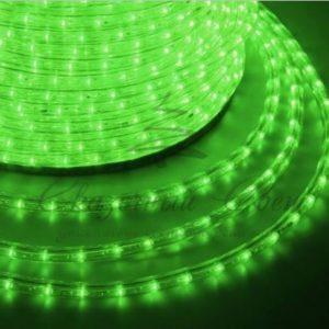 Дюралайт LED, свечение с динамикой (3W) — зеленый, 36 LED/м, бухта 100м