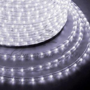 Дюралайт LED, свечение с динамикой (3W) — белый, 36 LED/м, бухта 100м