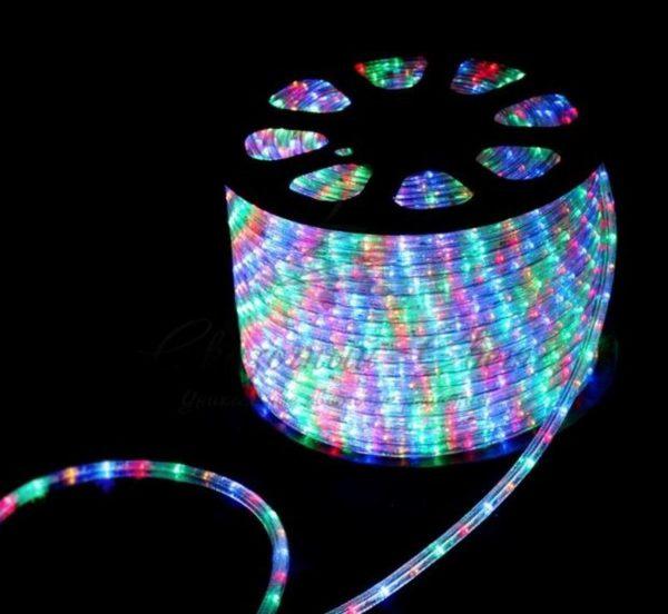 Дюралайт LED, свечение с динамикой (3W) - мульти (RYGB), 36 LED/м, бухта 100м 1