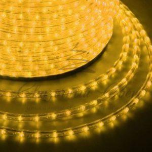 Дюралайт LED, эффект мерцания (2W) – желтый, 36 LED/м, бухта 100м