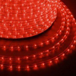 Дюралайт LED, эффект мерцания (2W) – красный, 36 LED/м бухта 100м