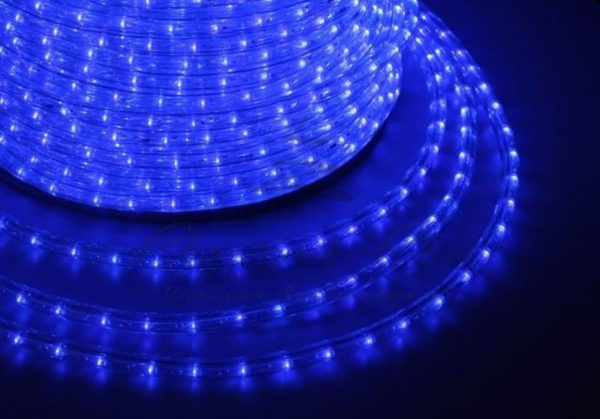 Дюралайт LED, эффект мерцания (2W) - синий, 36 LED/м, бухта 100м 1
