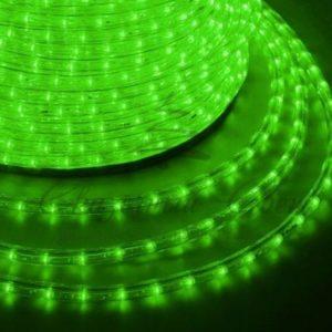 Дюралайт LED, эффект мерцания (2W) – зеленый, 36 LED/м, бухта 100м