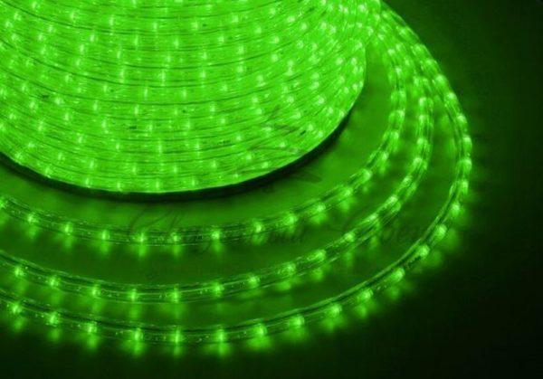 Дюралайт LED, эффект мерцания (2W) - зеленый, 36 LED/м, бухта 100м 1