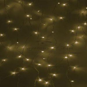 Гирлянда «Светодиодный Дождь»  1,5х1м, свечение с динамикой, прозрачный провод, 230 В, диоды ТЕПЛО-БЕЛЫЕ