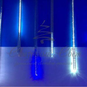 Светодиодная тающая сосулька, 60 см, синяя