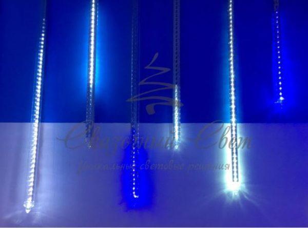 Светодиодная тающая сосулька, 60 см, синяя 3