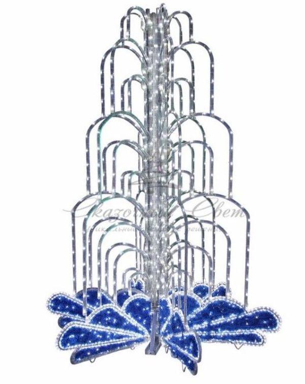 LED фонтан, высота 2. 0, диаметр 1. 3 метра (с контроллером) Синий 1