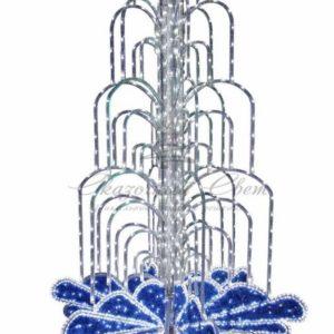 LED фонтан, высота 2. 8, диаметр 1. 8 метра (с контроллером) Синий