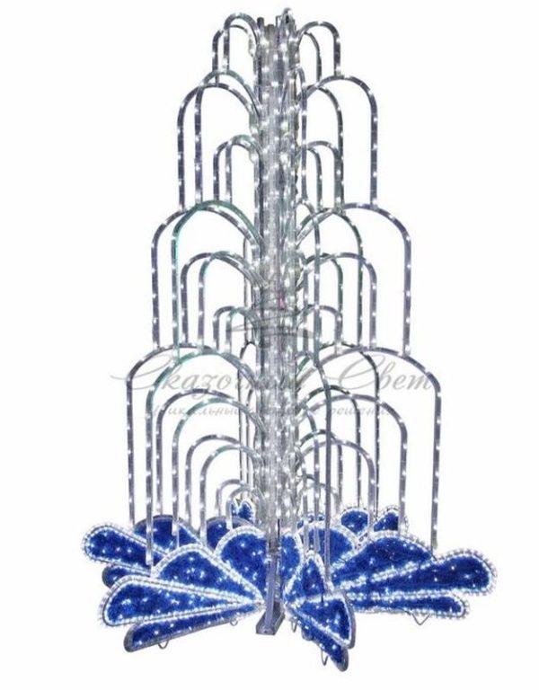 LED фонтан, высота 2. 8, диаметр 1. 8 метра (с контроллером) Синий 1