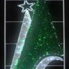 """Фигура световая """"Звезда с лентой"""" размер 3. 5х1. 2м 2"""