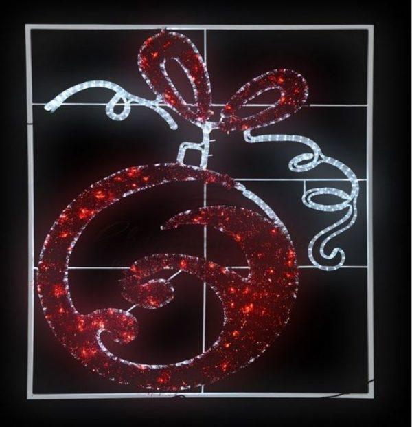 """Фигура световая """"Елочный шар"""" 20м дюралайта, размер 150*120см 3"""
