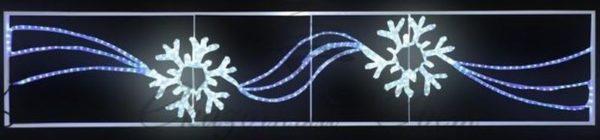 """Фигура световая """"2 снежинки"""" размер 250*50см 3"""