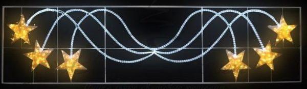 """Фигура световая """"Брызги звезд"""" 360 светодиодов 24м дюралайта, размер 400*100см 3"""