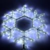 """Фигура световая """"Снежинка"""" цвет белый, размер 95 см, мигающая (2В с контроллером)  NEON-NIGHT 2"""