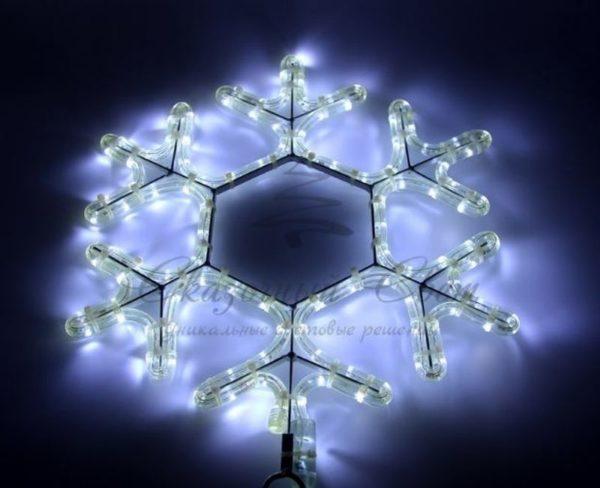 """Фигура световая """"Снежинка LED"""" цвет белый, размер 45*38 см 3"""