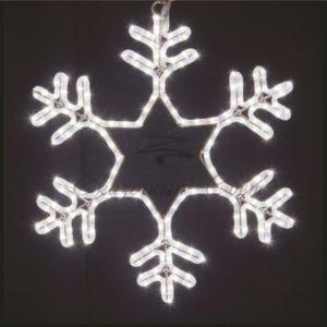 Фигура световая «Снежинка» цвет белый, размер 55*55 см, мерцающая  NEON-NIGHT