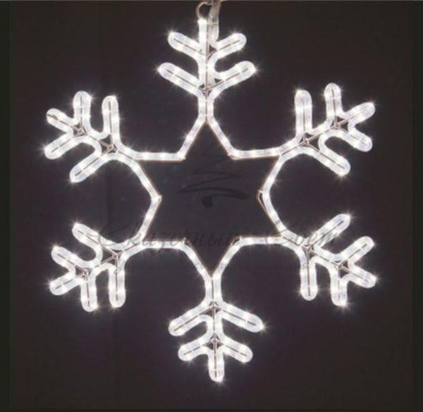"""Фигура световая """"Снежинка"""" цвет белый, размер 55*55 см, мерцающая  NEON-NIGHT"""