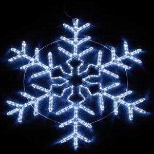 Фигура световая «Снежинка» цвет белый, размер 95*95 см,  мерцающая  NEON-NIGHT