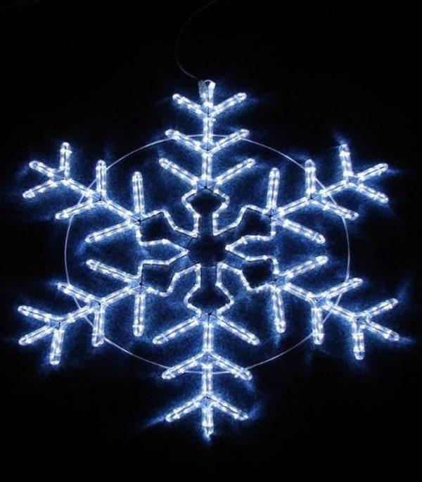 """Фигура световая """"Снежинка"""" цвет белый, размер 95*95 см,  мерцающая  NEON-NIGHT 3"""